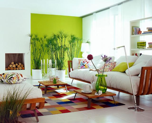 decoracao branco e verde
