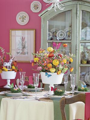 decoracao casa pascoa mesa