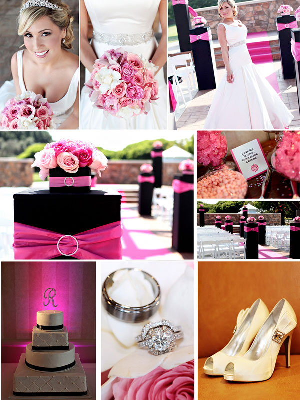 decoracao casamento cores pink preto