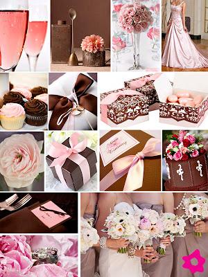 decoracao casamento rosa e marrom