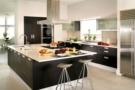 decoracao casas grandes cozinha moderna