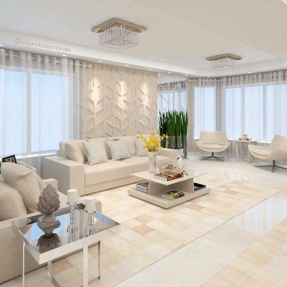decoracao casas grandes sala branca