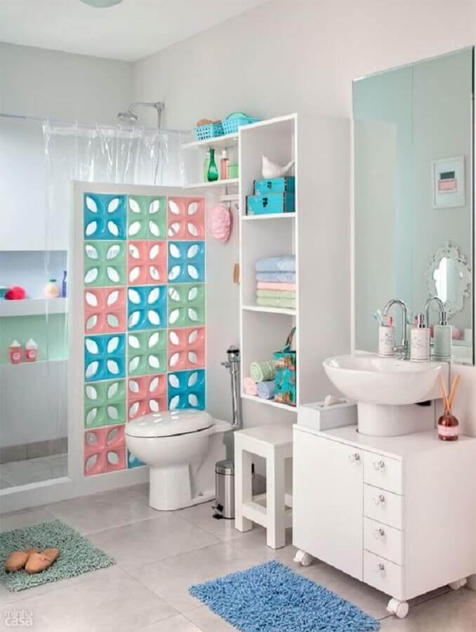 decoracao cobogo banheiro