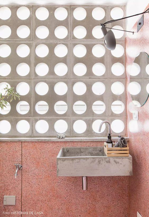 decoracao cobogo concreto lavandaria