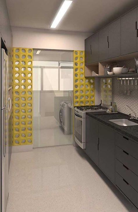 decoracao cobogo cozinha lavandaria