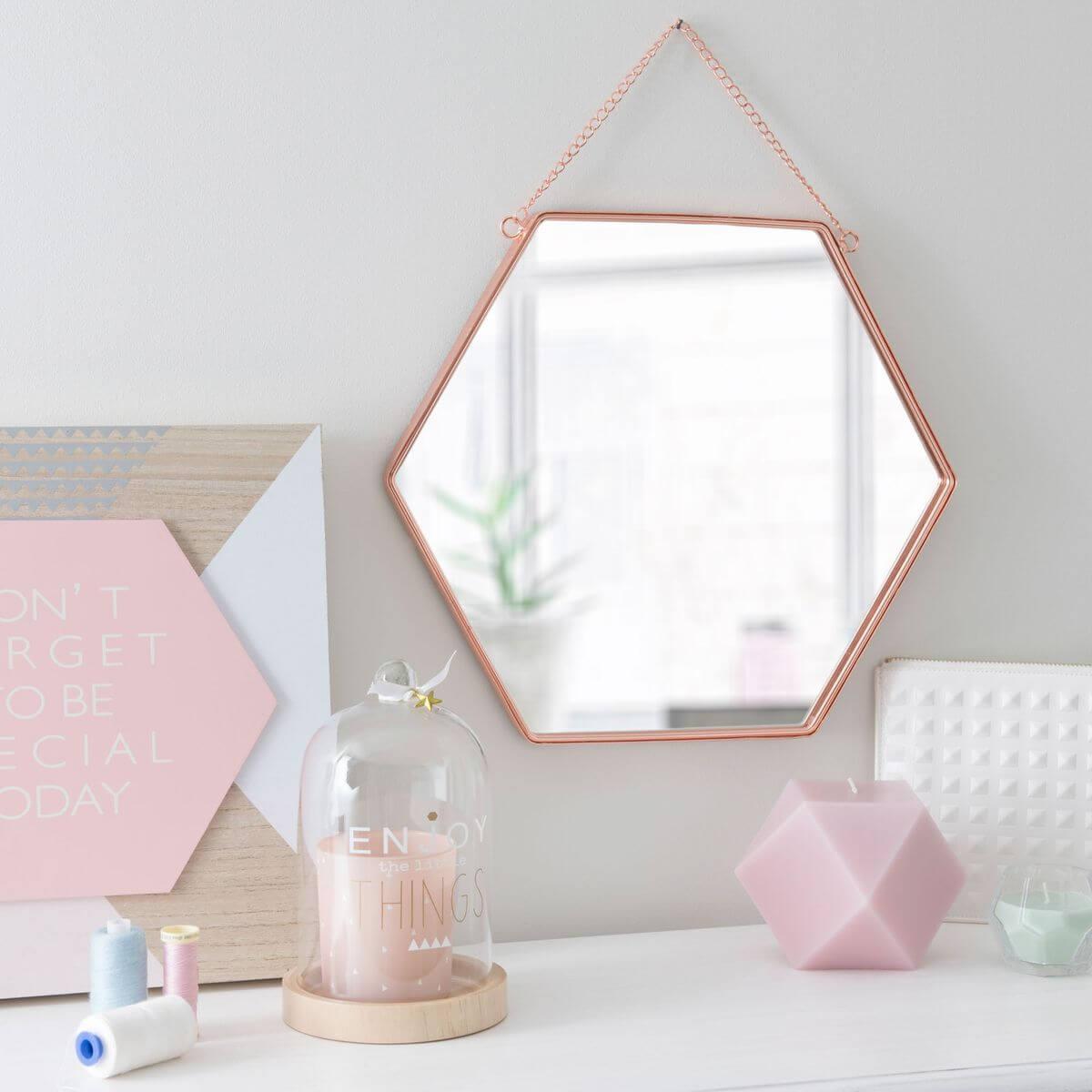 decoracao cobre espelho