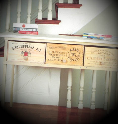 decoracao com caixas de vinho