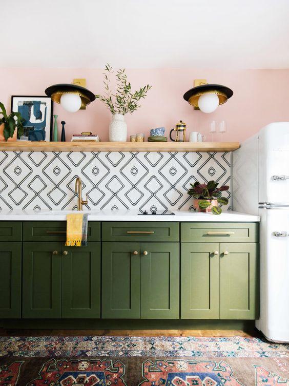 decoracao com moveis retro cozinha