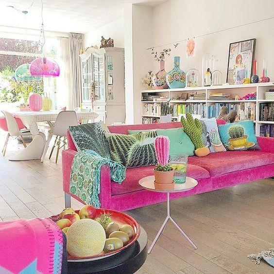 decoracao com moveis retro sala sofa