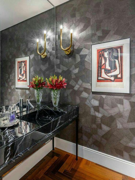 decoracao com papel de parede banheiro 11