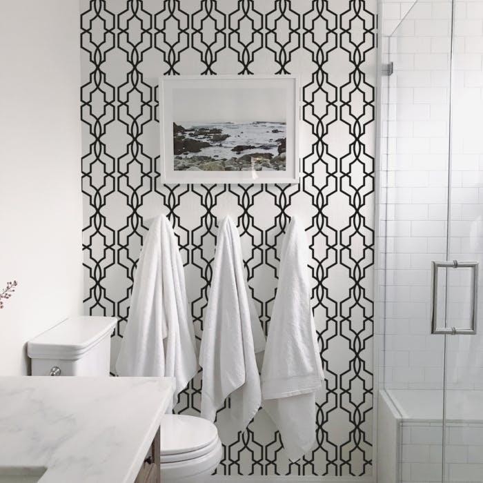 decoracao com papel de parede banheiro 3