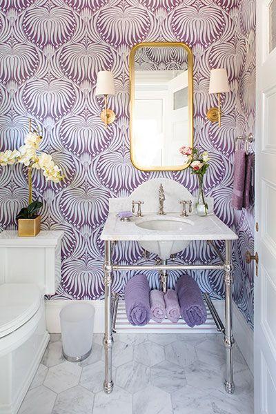 decoracao com papel parede banheiro