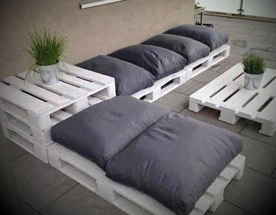 decoracao com sofas de paletes