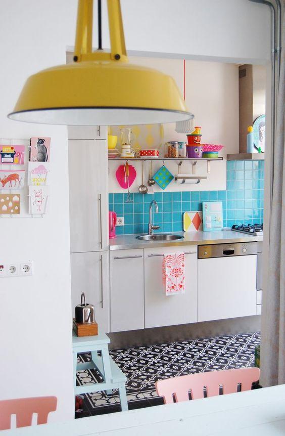 decoracao cozinha colorida