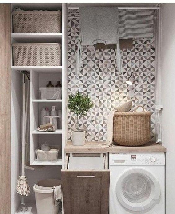 decoracao da lavandaria