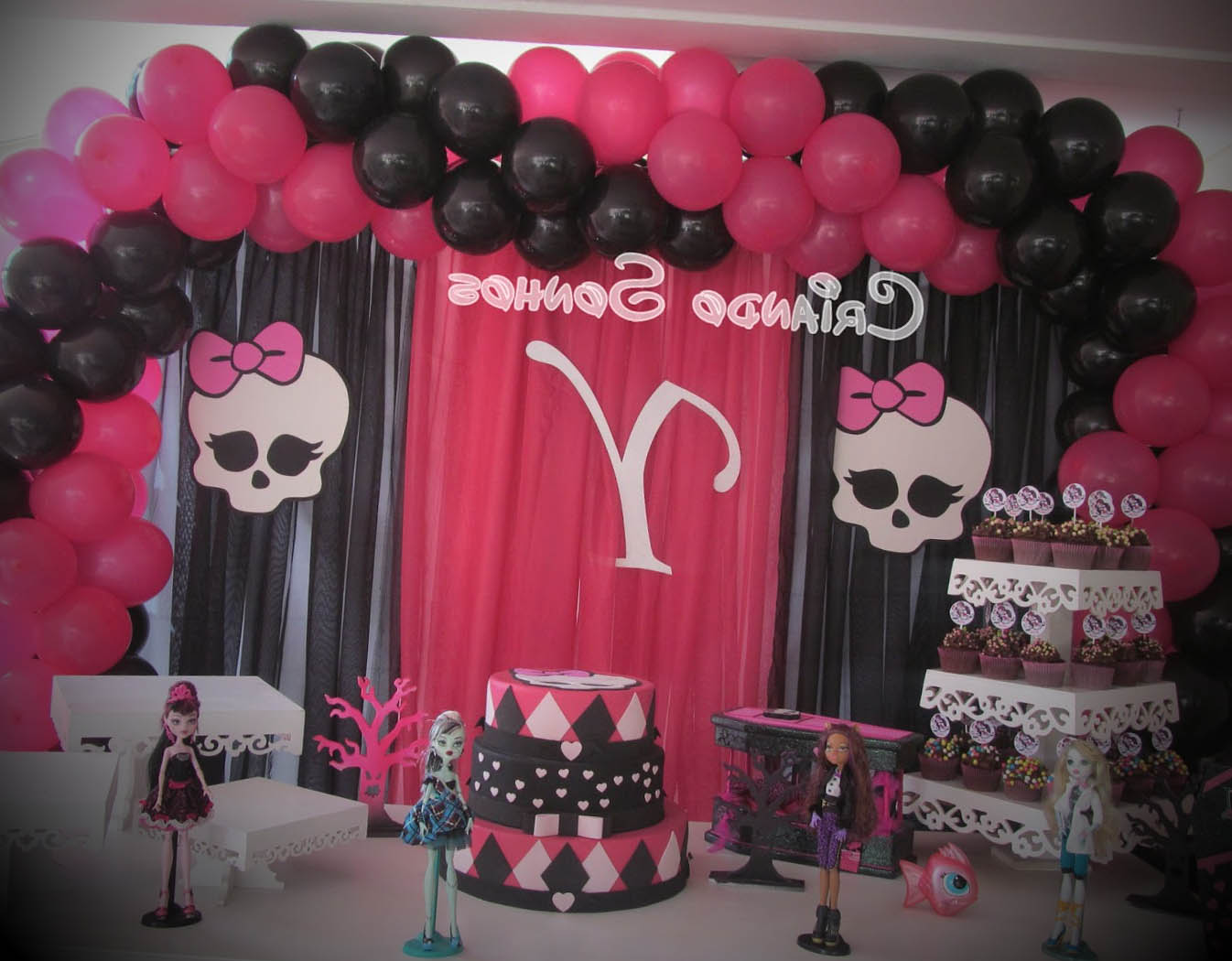 decoracao de festa monster high