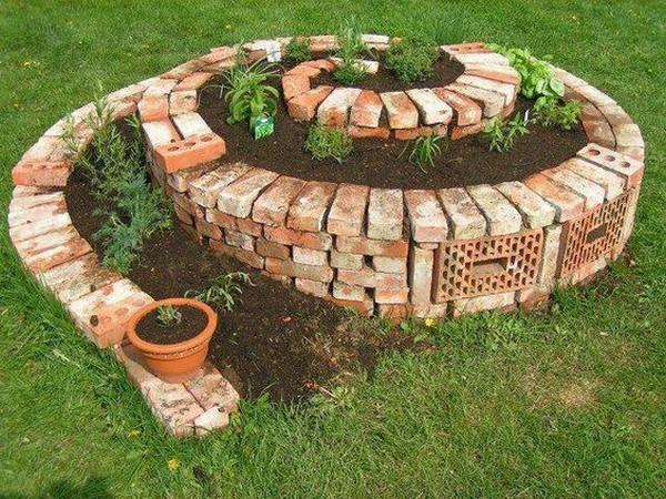 decoracao de jardins com tijolos 1