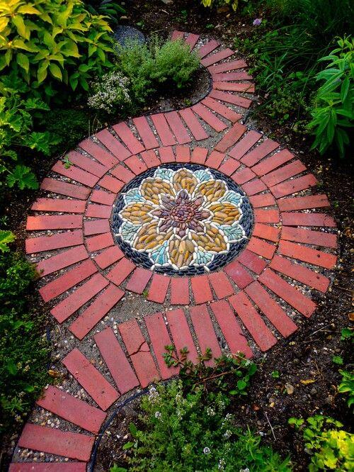 decoracao de jardins com tijolos 13