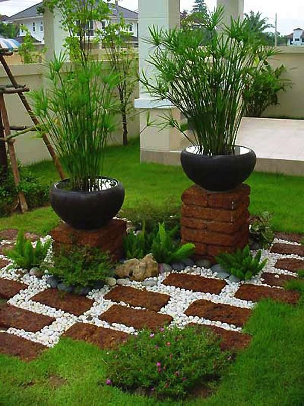 decoracao de jardins com tijolos 8
