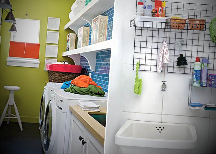 decoracao de lavanderia pequena