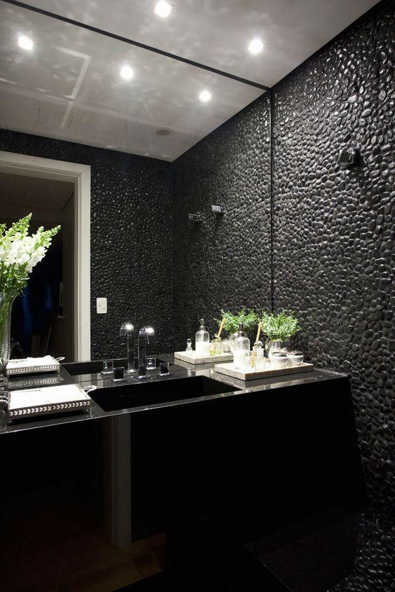 decoracao de seixos pretos 8