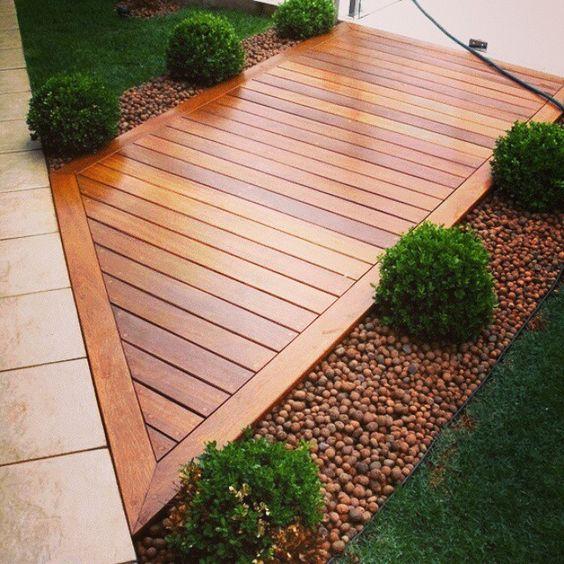 decoracao deck madeira