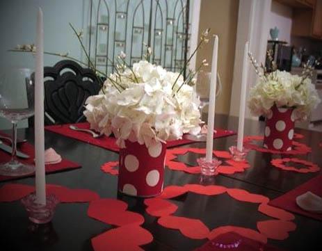 decoracao dia dos namorados mesa