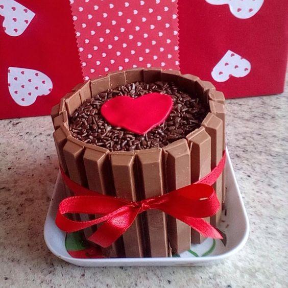 decoracao dia namorados bolo