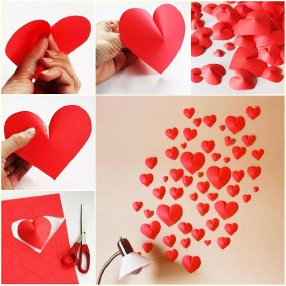 decoracao dia namorados coracao vermelho