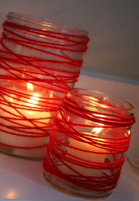 decoracao dia namorados velas