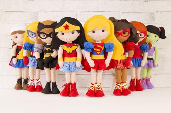 decoracao feltro quarto infantil bonecas
