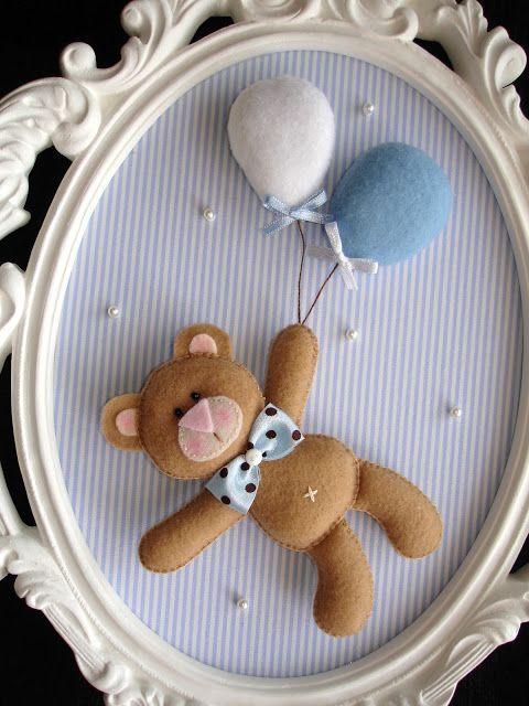 decoracao feltro quarto infantil moldura