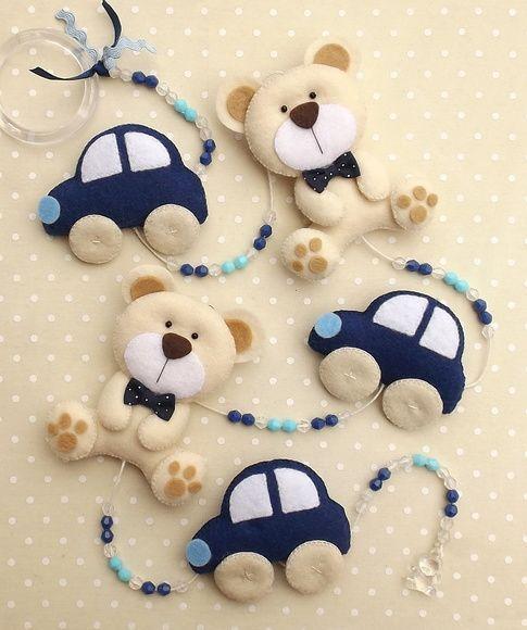 decoracao feltro quarto infantil urso