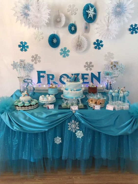 decoracao festa frozen