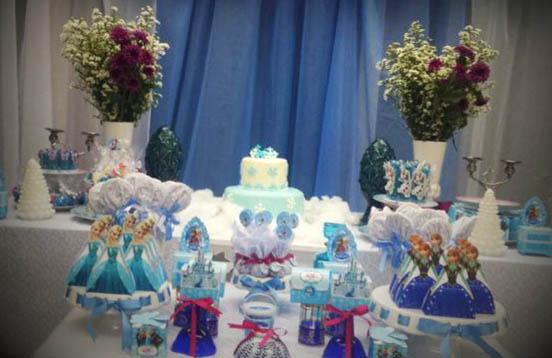 decoracao festa infantil frozen