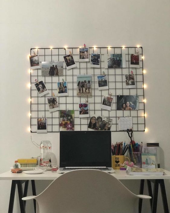 decoracao fio luz quadros