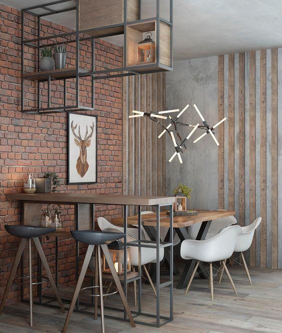 decoracao industrial apartamento