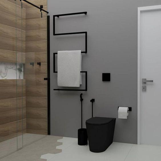 decoracao industrial banheiro