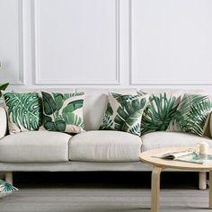 decoracao interior tropical almofada