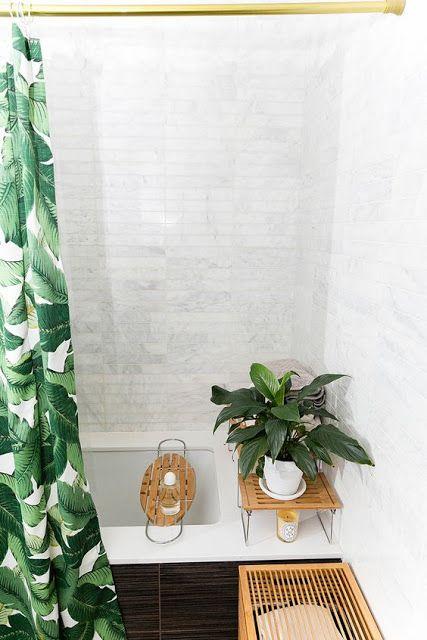 decoracao interior tropical banheiro