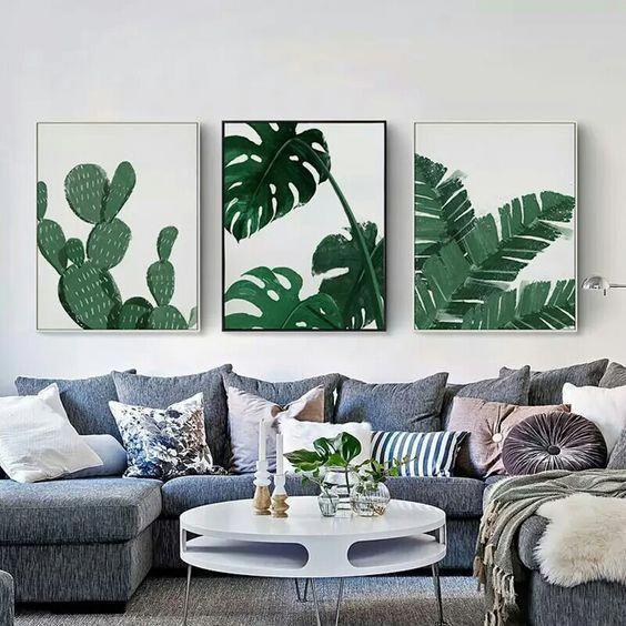 decoracao interior tropical quadros
