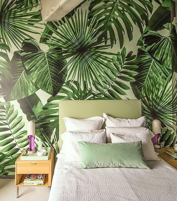 decoracao interior tropical quarto