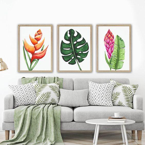 decoracao interior tropical simples