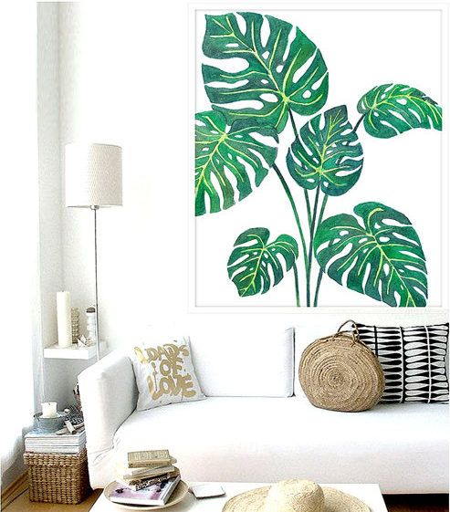 decoracao interior tropical