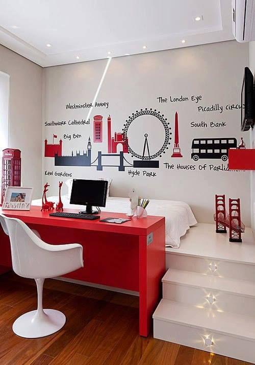 decoracao interior vermelho 12
