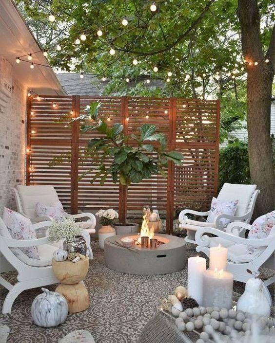 decoracao jardim externo pequeno cimento