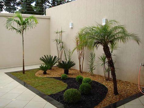 decoracao jardim simples pedras plantas