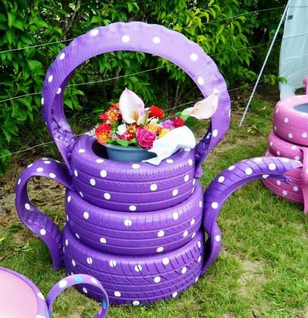 decoracao jardins pneus velhos 10