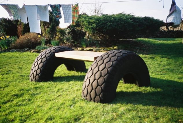 decoracao jardins pneus velhos 2