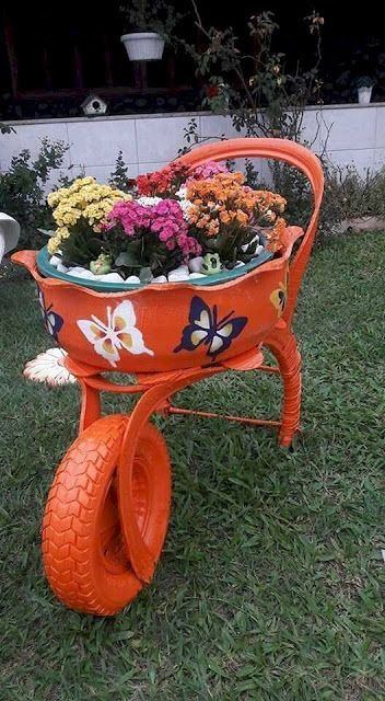 decoracao jardins pneus velhos 3